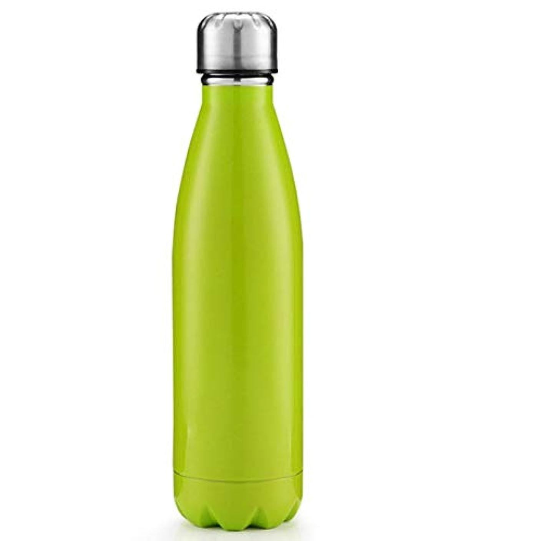 不快出席する絶滅HOOHLLY ステンレス鋼大容量500ミリリットルスポーツカップファッションマグユニセックスウォーターカップ高温ウォーターカップアンチリーク 売り上げ後の専門家 (Color : グリーン)
