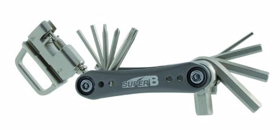 和らげる物質舗装するSuper B Mini Multi Tool (Black/ Silver) by Super B