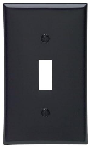 Leviton スイッチ用ウォールプレート1点 トグル型 標準サイズ 熱可塑性ナイロン製 アイボリー 1 Gang 80701-E 1