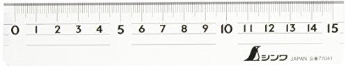 シンワ測定 直定規 アクリル 15cm 77041