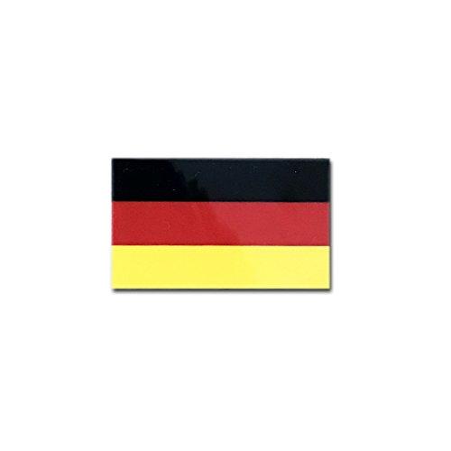 ドイツ 国旗 ステッカー ( スーツケース ・ 車 にも貼れる 防水 シール ) (2S 約48mm...