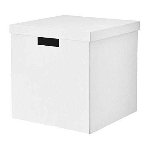 IKEA/イケア TJENA:収納ボックス ふた付き30x30x30 cm(ホワイト)00395426