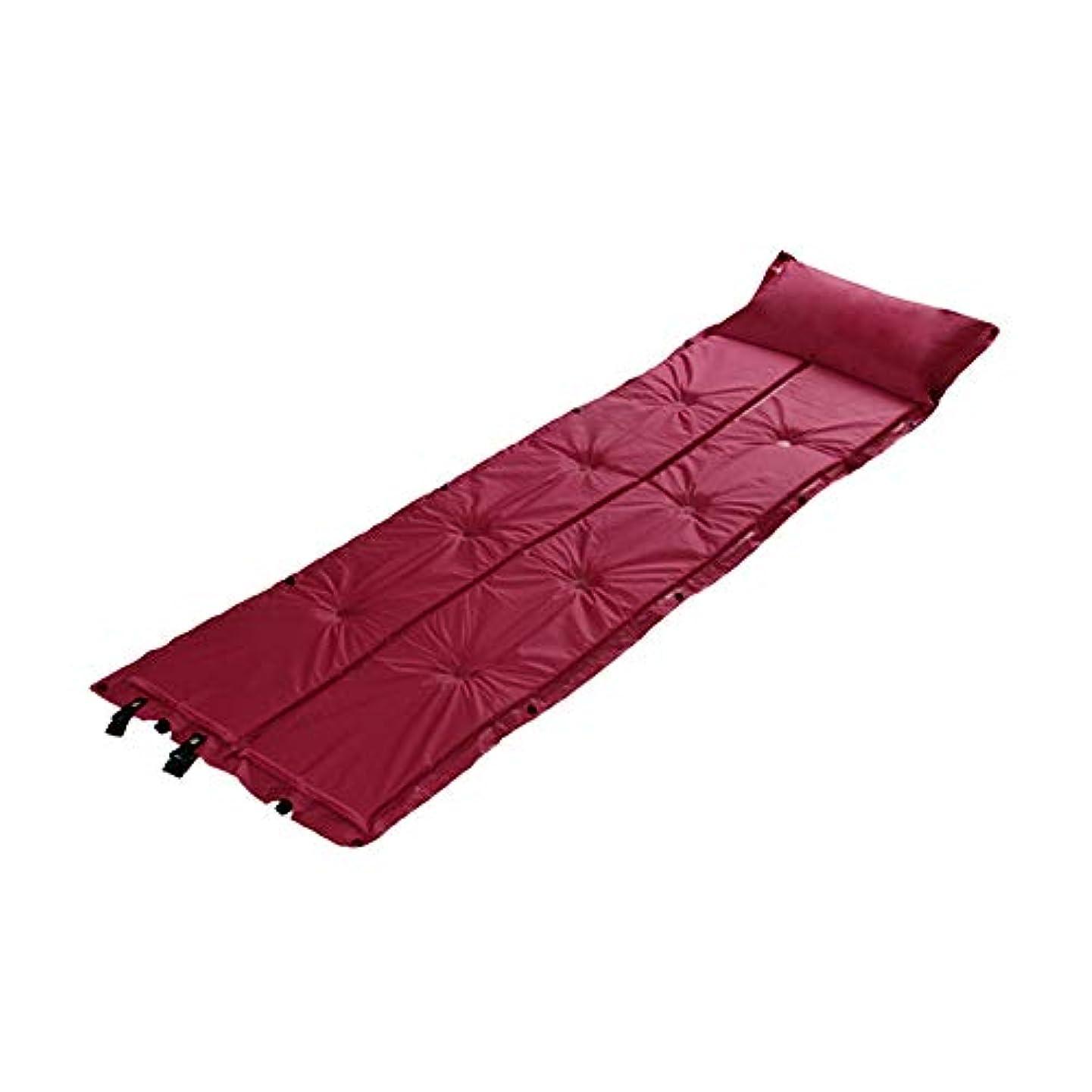 ビュッフェ大学院それから枕と単一の屋外の自動膨脹可能なクッションは膨脹可能なマットのキャンプの睡眠のマットをステッチすることができます
