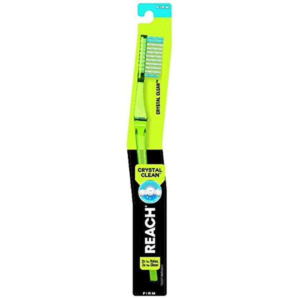文つなぐ口径Reach クリスタルクリーン事務所抗菌キャップ、1 EAで大人歯ブラシ - ブルー(4パック) 4パック