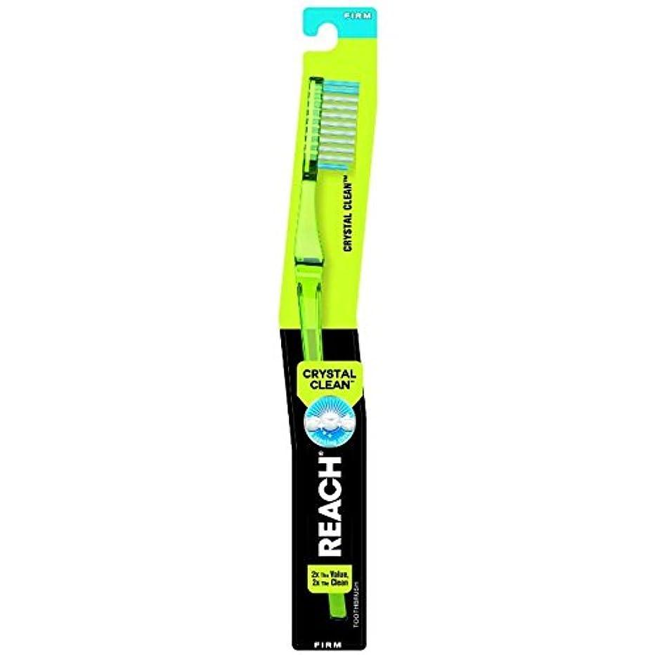 見通し戻る好奇心Reach クリスタルクリーン事務所抗菌キャップ、1 EAで大人歯ブラシ - ブルー(4パック) 4パック