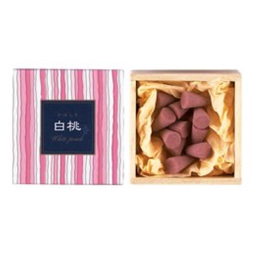 ベーカリーユーザーキュービックかゆらぎ お香 白桃 コーン 香立付 12個 【日本香堂】