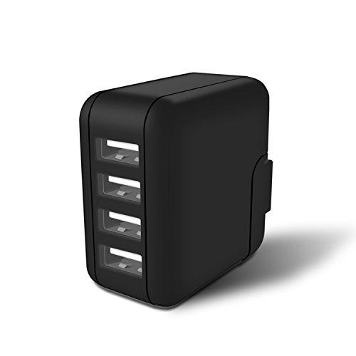 ホワイトナッツ Wiko Tommy P4903JP 急速充電 4ポート USB スマートIC スマホ 充電器 ACアダプター wn-0833684-wy