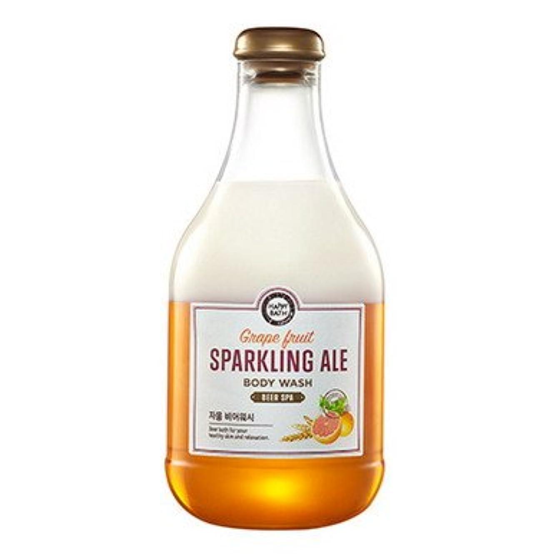 海外助言する横向き【Happy Bath】ビールスパ ボディウォッシュ 300ml (4種類選択1) (グレープフルーツビール) [並行輸入品]