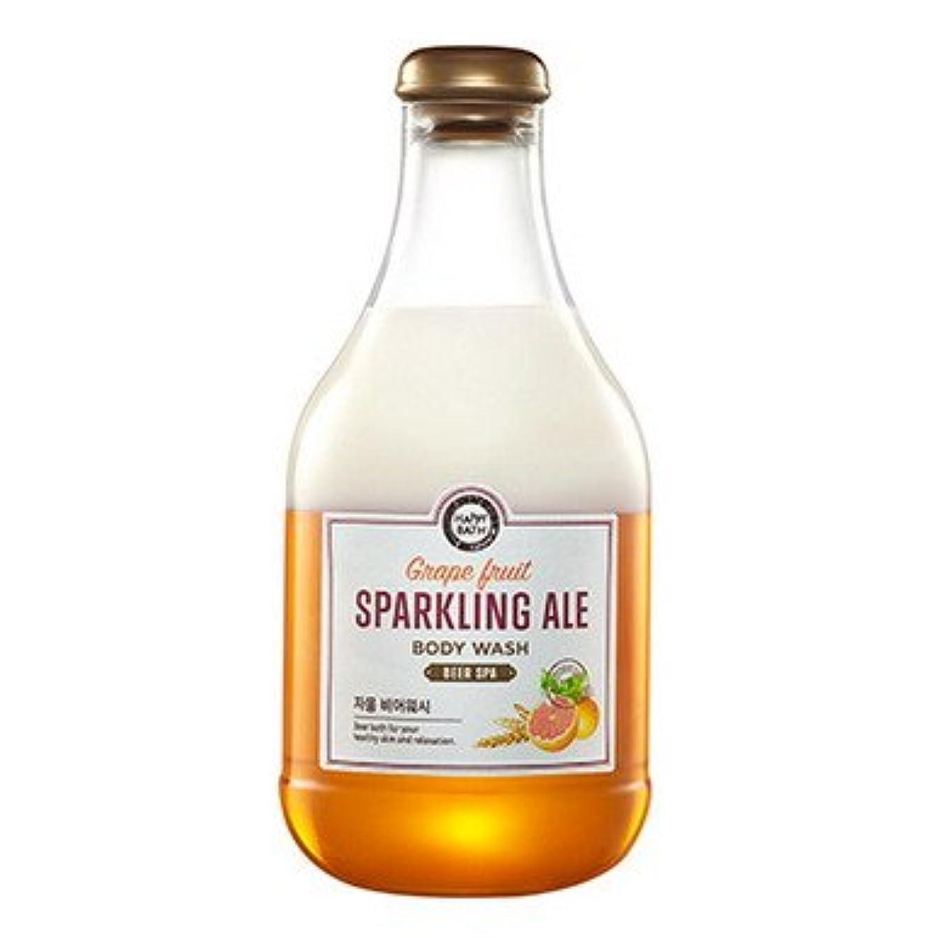識別加速する排除【Happy Bath】ビールスパ ボディウォッシュ 300ml (4種類選択1) (グレープフルーツビール) [並行輸入品]