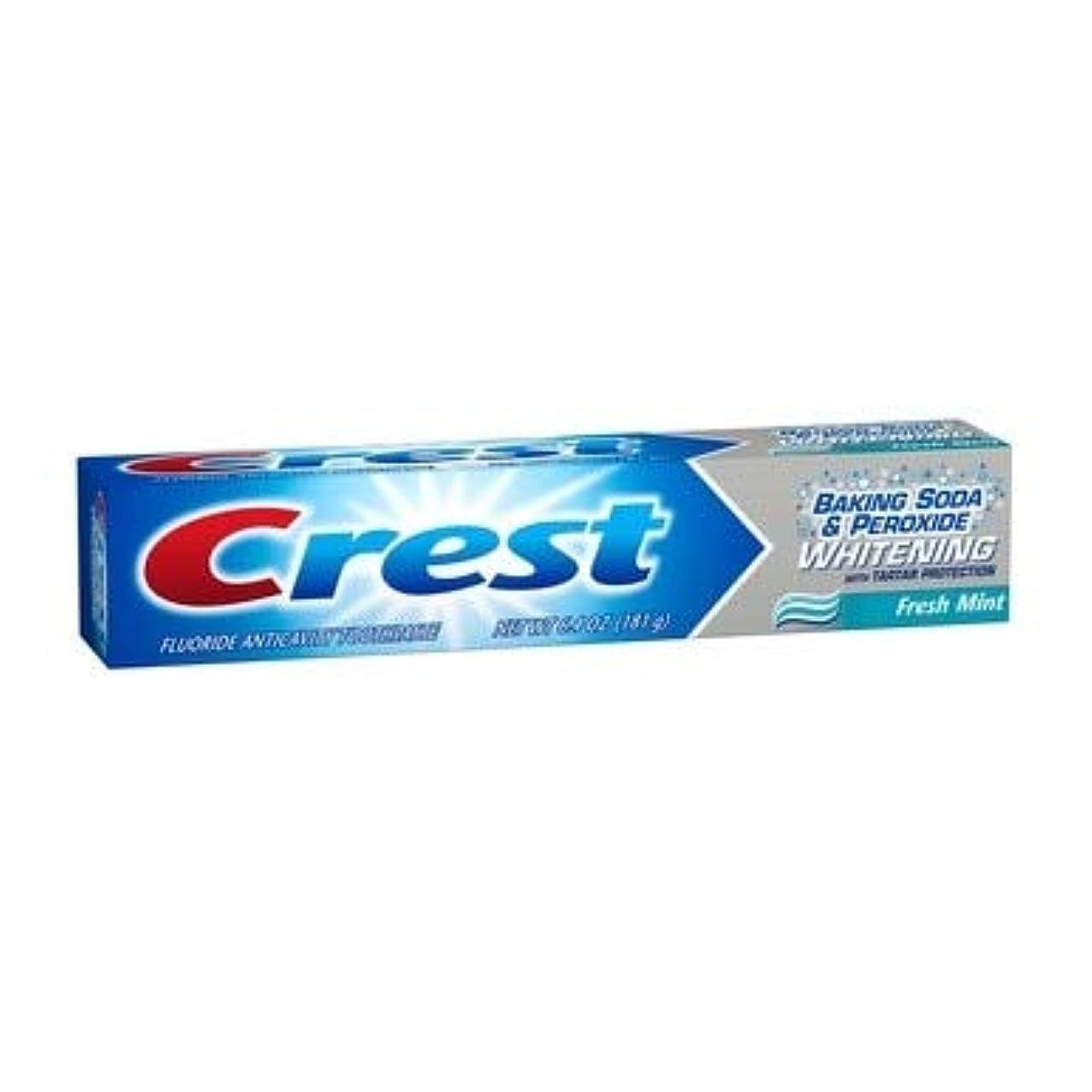 固めるスポンジ満たすCrest ホワイトニングフッ化物虫歯予防歯磨きフレッシュミント - 6.4オズ、2パック
