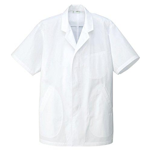 [해외]AAA 트리플 A 남성용 칼라 반소매 백의 조리 입고 앞치마 (HH312) S ~ 5L 사이즈 전개/AAA Triple A Men`s collar and short sleeve white coat cooking wearing coat arrival (HH 312) S ~ 5 L size expansion