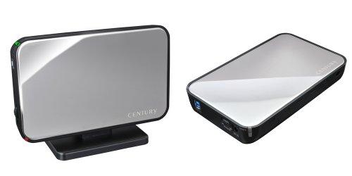 センチュリー 1分BOX USB3.0 SATA6G ミラーシルバー 3.5インチSATA-HDDケース COM35U3S6G