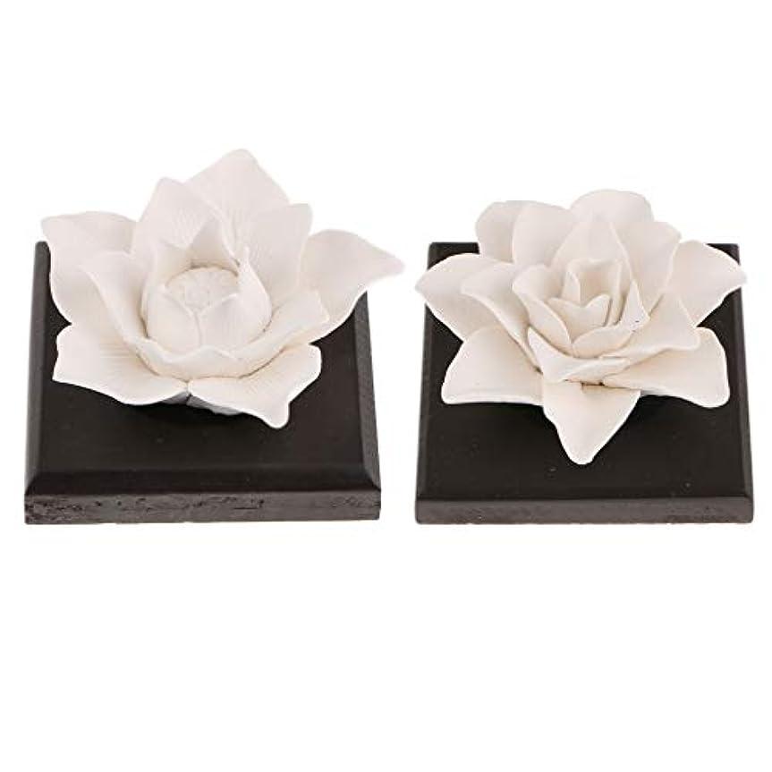 本体ギャラントリー大聖堂B Baosity 2個 セラミック 花 エッセンシャルオイル 香水 香り ディフューザー 空気清浄