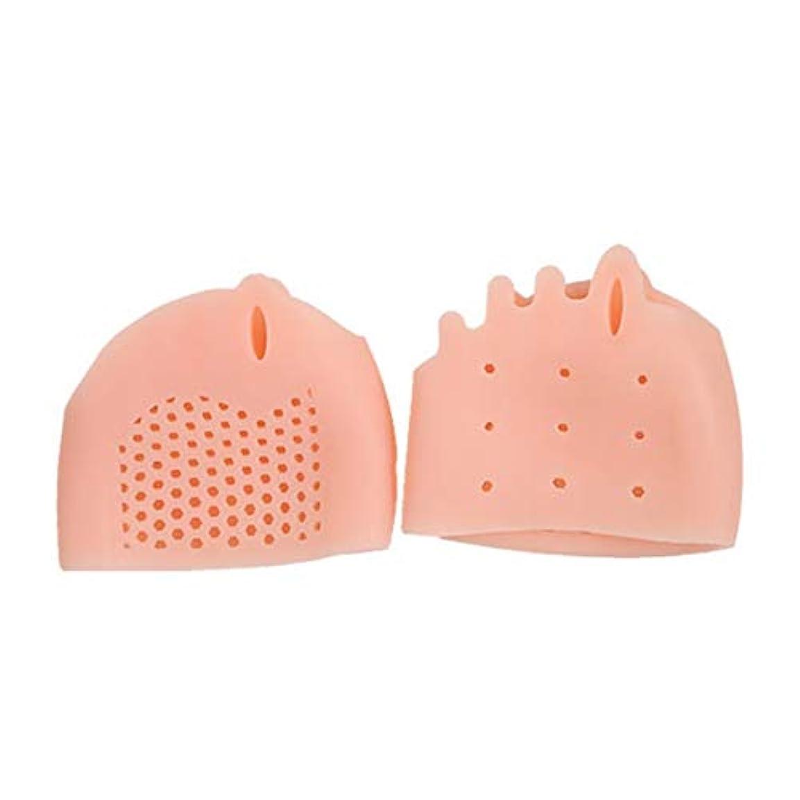 横に努力ベッドSEBS Silicone Toe Separator Honeycomb Forefoot Cushion Pad with 5 Loops Thumb Valgus Corretcor Toe Bracer Foot...