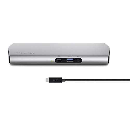 belkin USB Type-Cドック Macbook/Macbook Pro 2016/2017対応 60w給電 ケーブル1m付 Express Dock HD F4U093JA-A