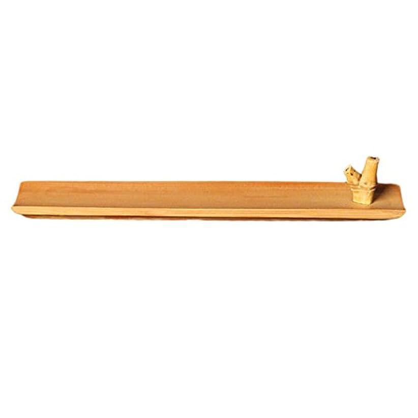 Homyl 竹 お香立て スティック 香 ホルダー バーナースティック 手作り 工芸品 24センチメートル ヨガ、レイキ、マッサージ、太極拳、瞑想の愛好家に最適