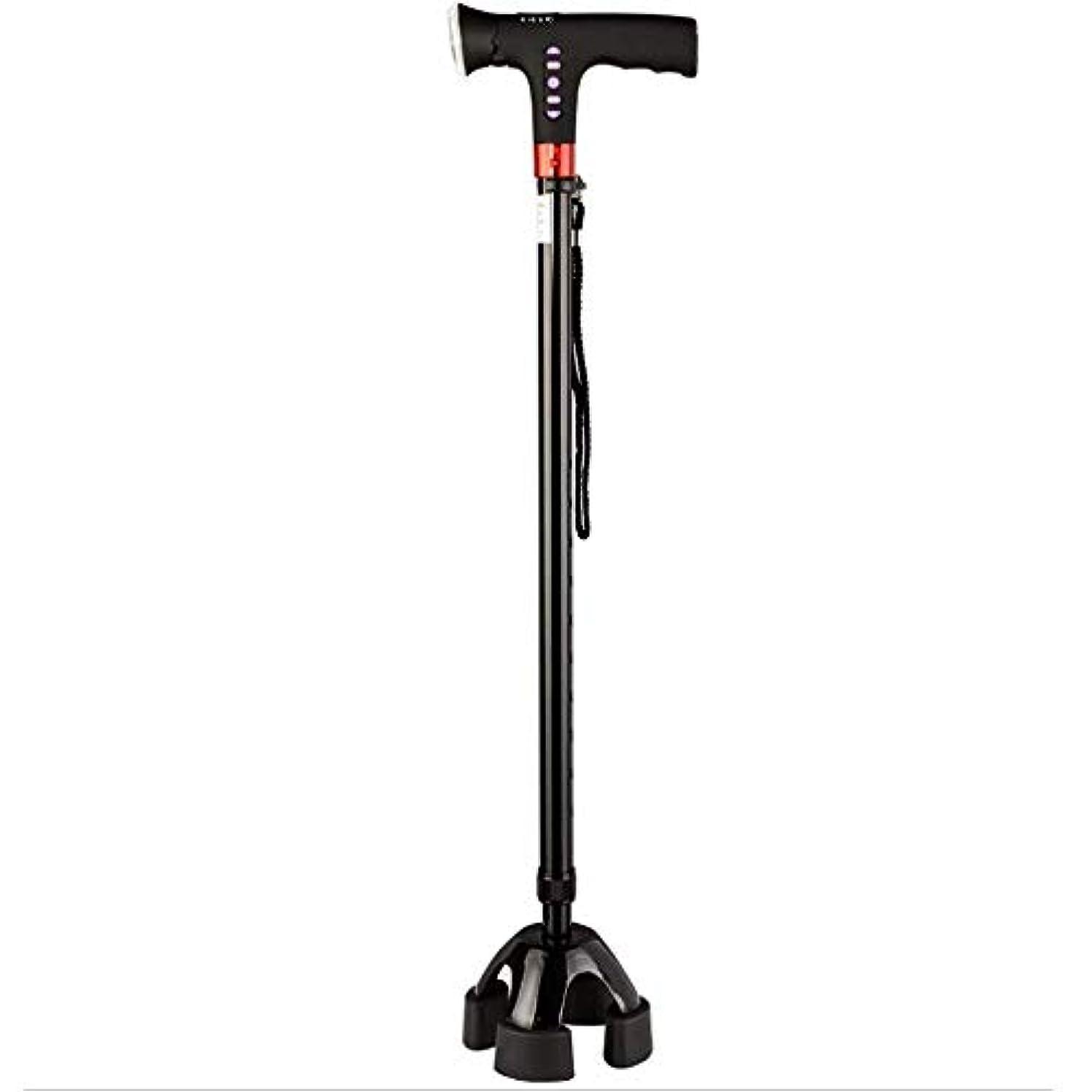憂鬱アラート前部LEDライトアルミ松葉杖人間工学に基づいた快適さハンドルの高さ調節可能な滑り止め高齢者旅行松葉杖医療リハビリテーション松葉杖