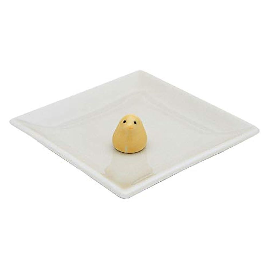 ペンフレンド郵便物補償陶器香皿&ヒヨコ香立(アイボリー)
