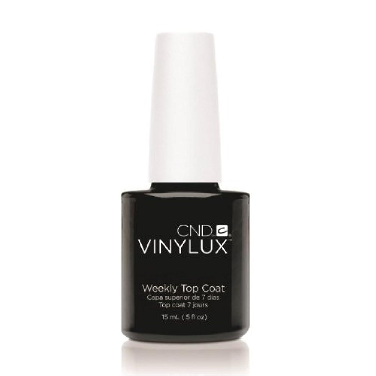 火傷衝突するびっくり(3 Pack) CND VINYLUX Weekly Top Coat - Clear (並行輸入品)
