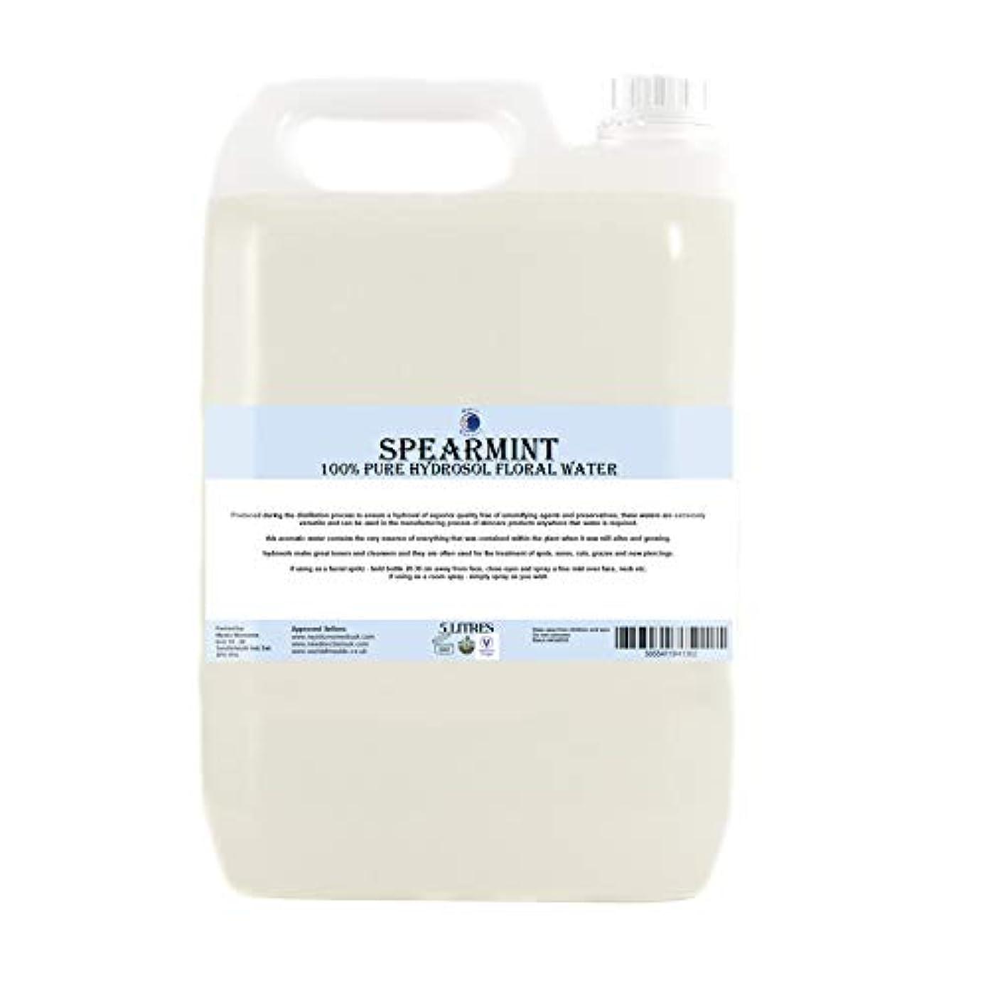 葉巻丘巻き戻すSpearmint Hydrosol Floral Water - 5 Litres