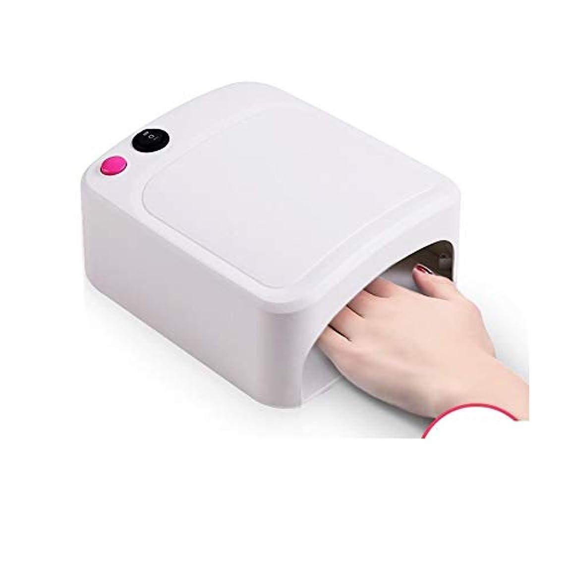 石鹸乗って滅びるLittleCat 米国の規制110VフラットプラグネイルUVランプ36WライトセラピーマシンネイルネイルドライヤーUVランプヒートランプ (色 : White)