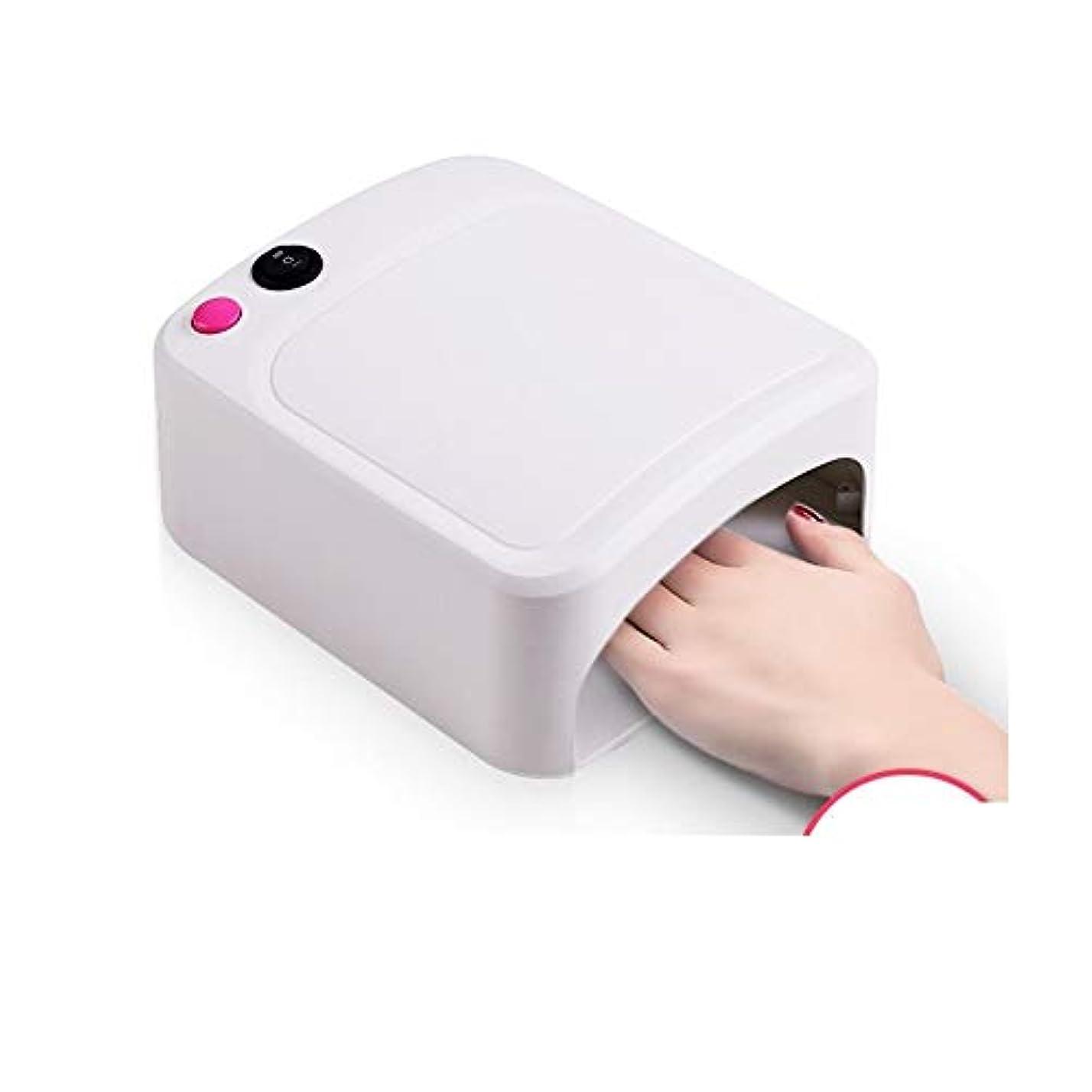 悪行週末酸度LittleCat 米国の規制110VフラットプラグネイルUVランプ36WライトセラピーマシンネイルネイルドライヤーUVランプヒートランプ (色 : White)