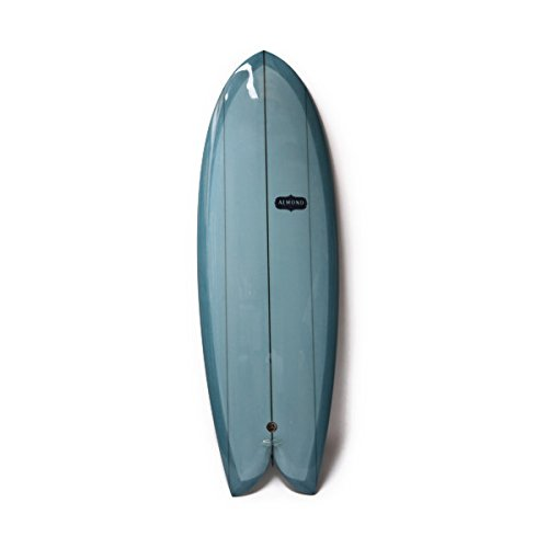 ALMOND SURFBORDS POGY 5'7' アーモンド サーフボード ポギー フィッシュ ツインフィン フィッシュ (Blue Tint, 5'7')
