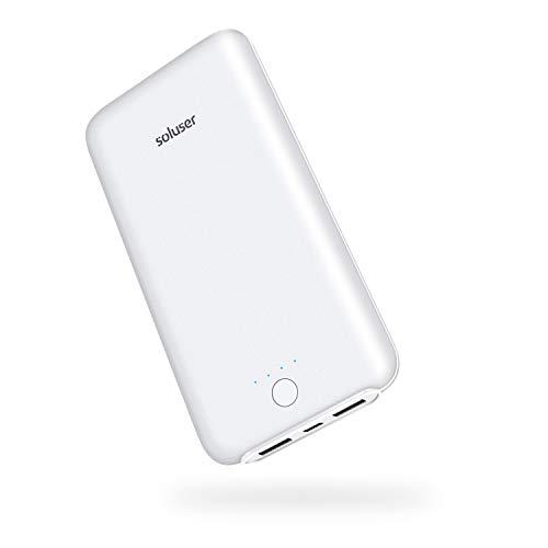 (2019年新版)Soluser 24000mAh モバイルバッテリー大容量急速充電器 薄型 2USB充電ポートiPhone/ iPad/Galaxy/Xperia/Nexus/PSvita/タブレット/ゲーム機 等対応