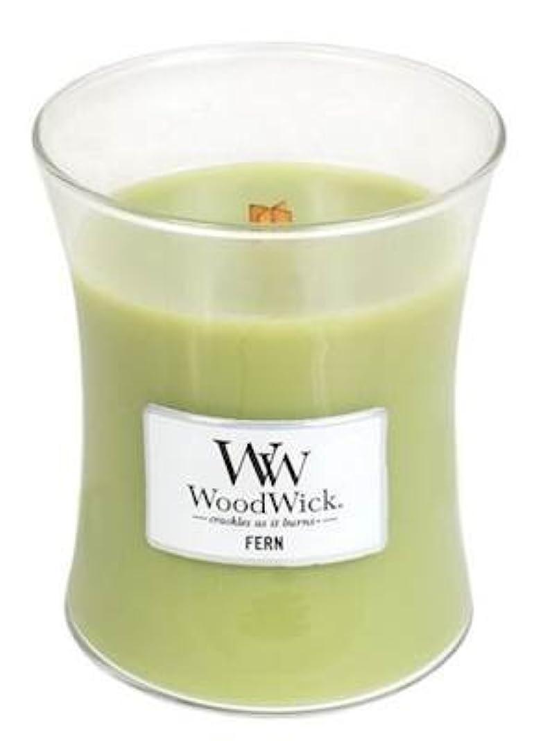 安心させる収容する倉庫Fern WoodWick 10 oz Medium砂時計Jar Candle Burns 100時間