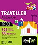 【AIS】タイ プリペイド SIM7日間 データ通信無制限 100分無料通話つき 画像