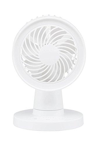 siroca 卓上扇風機 SDF-129 セラミックホワイト[USB可/コンセント可/コンパクト]