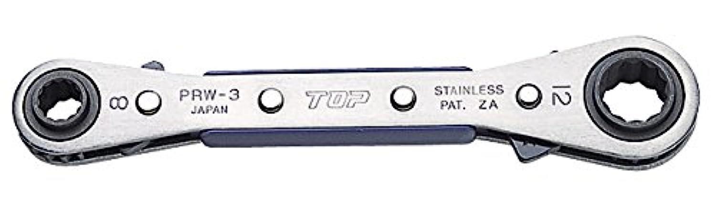 TOP トップ工業 PRW-2 4サイズ板ラチェットレンチ