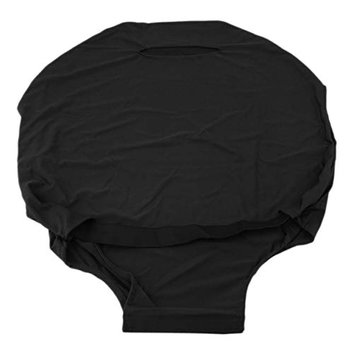 Saikogoods 24/28インチスーツケース荷物のために屋外旅行高弾性ソリッドカラー防塵荷物スーツケース保護カバー 黒