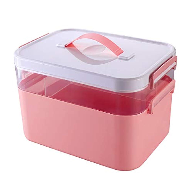 旧正月先例富豪救急箱 薬箱の携帯用家の予備薬の救急箱の貯蔵医療箱の家の貯蔵箱 Xuan - worth having (Color : Pink)