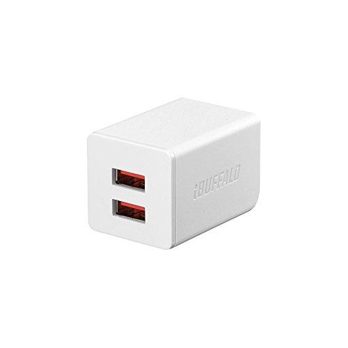 BUFFALO USB充電器 2.4A急速 USB×2 オー...