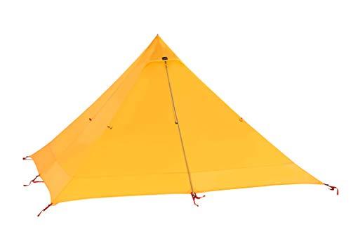 キャンプテント Desert Walker テント 軽量 0.7KG 3 色 1〜2人用 登山 テント に適用 3000MM防水に強い ワンポールテント スーパー耐引裂性 15Dナイロン両面シリコーンオイル 防風 コンパクト設計 バッグ付き (黄)