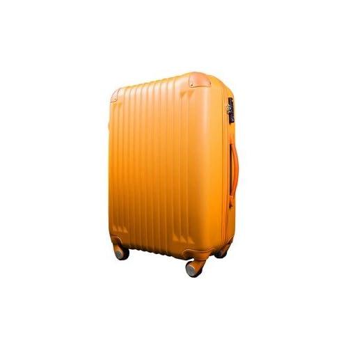 スーツケース/キャリーバッグ 【Sサイズ/小型1~3日】 機内可(機内持ち込み) TSA搭載 軽量 ファスナー オレンジ