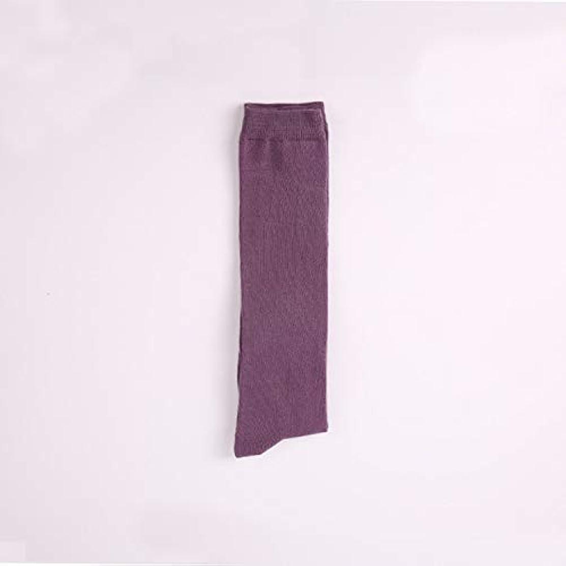 タワー低い修道院薄い子牛の靴下ソリッドカラー日本綿の膝の靴下女性の滑り止めの春と秋の通気性の靴下の学生の山