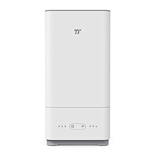 加湿器 TaoTronics 超音波 大容量 5L 【アレクサやGoogle Homeに対応/APP制御/上から給水/アロマ対応/抗菌/空焚き防止】 6-18畳対応 音声操作可 TT-AH023