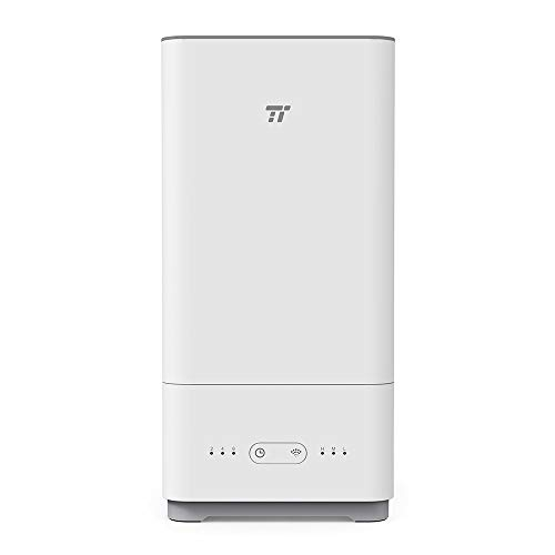 TaoTronics 加湿器 トップフィル式 超音波 クールミスト エッセンシャルオイル ディフューザー 無菌 お掃除簡単 ベビールームに 空焚き防止機能付 5L TT-AH014
