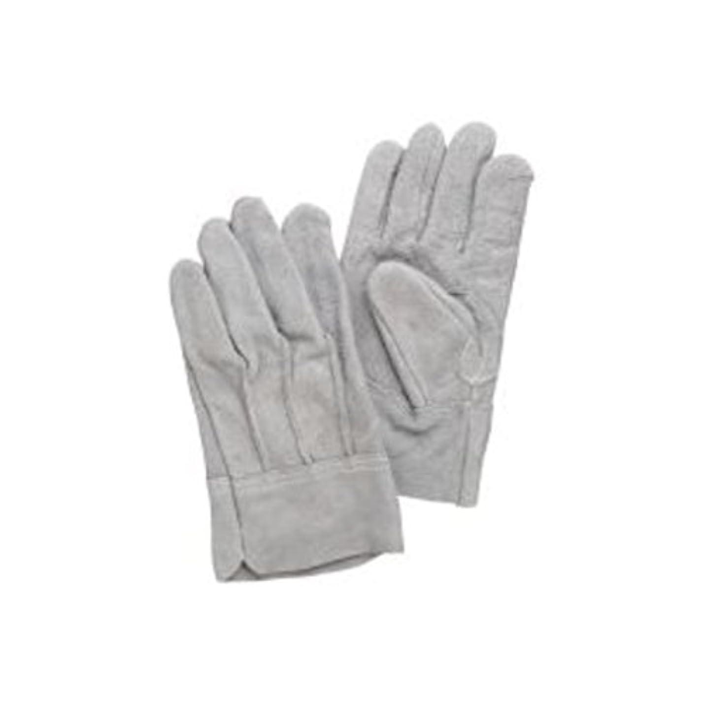 市長常に感謝【訳あり?在庫処分】(まとめ買い)熱田資材 革手袋床革手袋 背縫い NO.11 グレー 【×10セット】