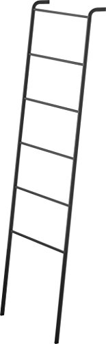 RoomClip商品情報 - 山崎実業 立て掛け収納ラック ハンガーラック はしご ラダーハンガー フレーム ブラック 3964