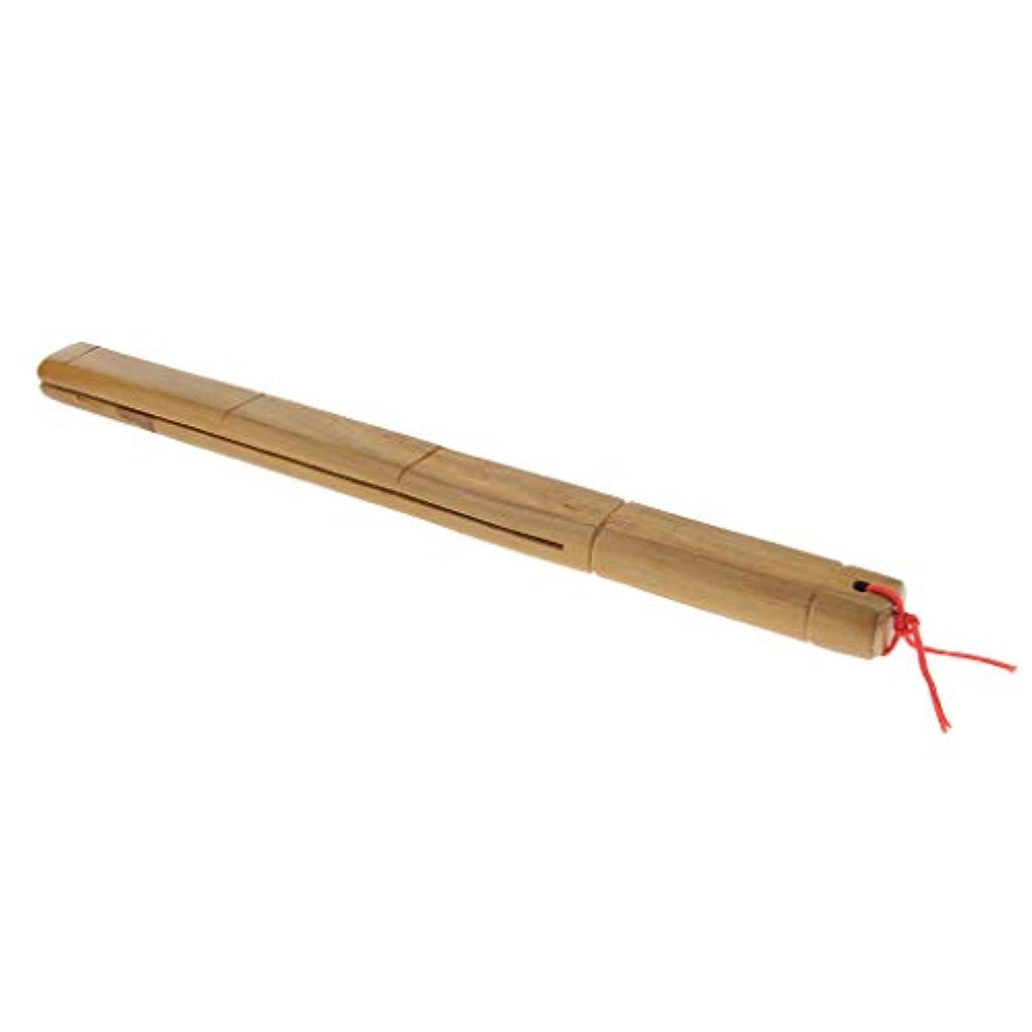 コントロール親指挨拶する木製マッサージャー ロングハンドル フルボディー マッサージ
