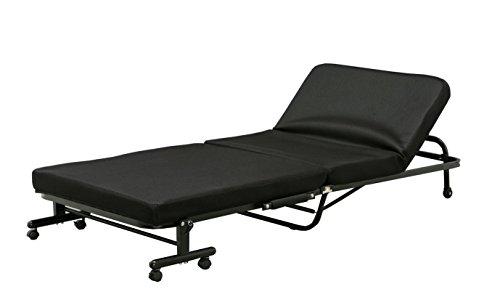 アイリスオーヤマ 折りたたみベッド 低反発 14段階リクライニング ブラック OTB-TR