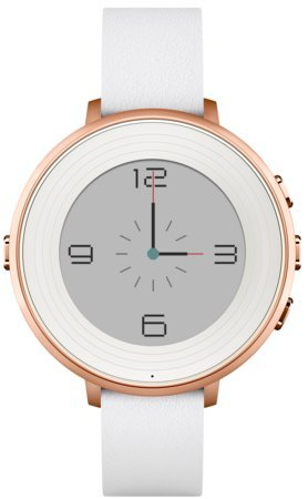Pebble Time Round 極薄かつ超軽量の丸型スマートウォッチ「ペッブルタイム・ラウンド」Rose Gold with White Leather [並行輸入品] -