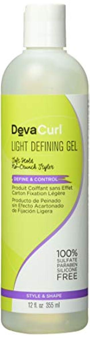 費やすカヌーフットボールDeva Curl AnGel Light Hold Defining Gel 12 oz