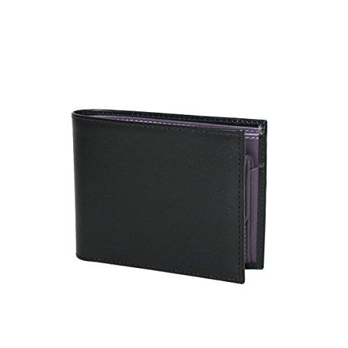 [エッティンガー]ETTINGER(エッティンガー)パープル コレクション ST141JR 二つ折り財布小銭入れ付 ブラック [並行輸入品]