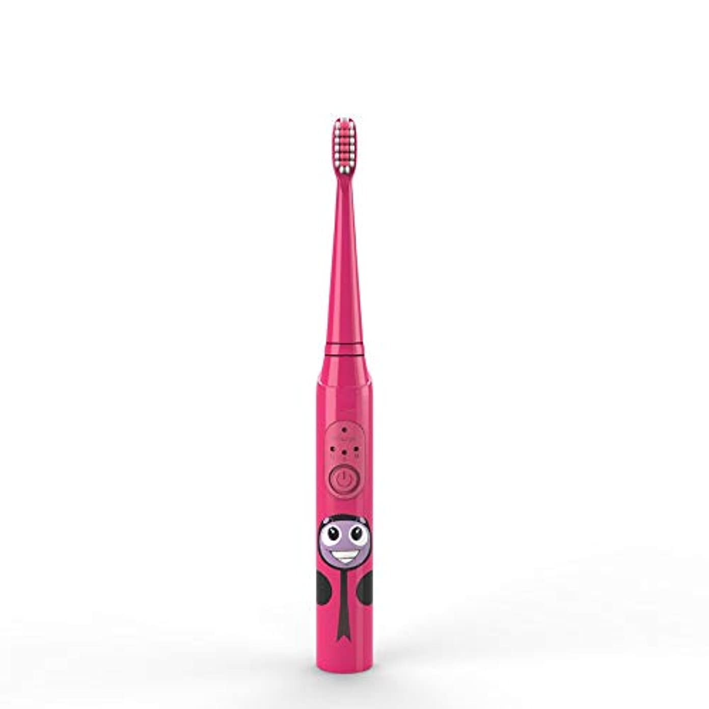 柔らかい足通行人インスタンス電動歯ブラシ 子供の電動歯ブラシUSB充電式保護清潔で柔らかい毛の歯ブラシ日常の使用 大人と子供向け (色 : 赤, サイズ : Free size)