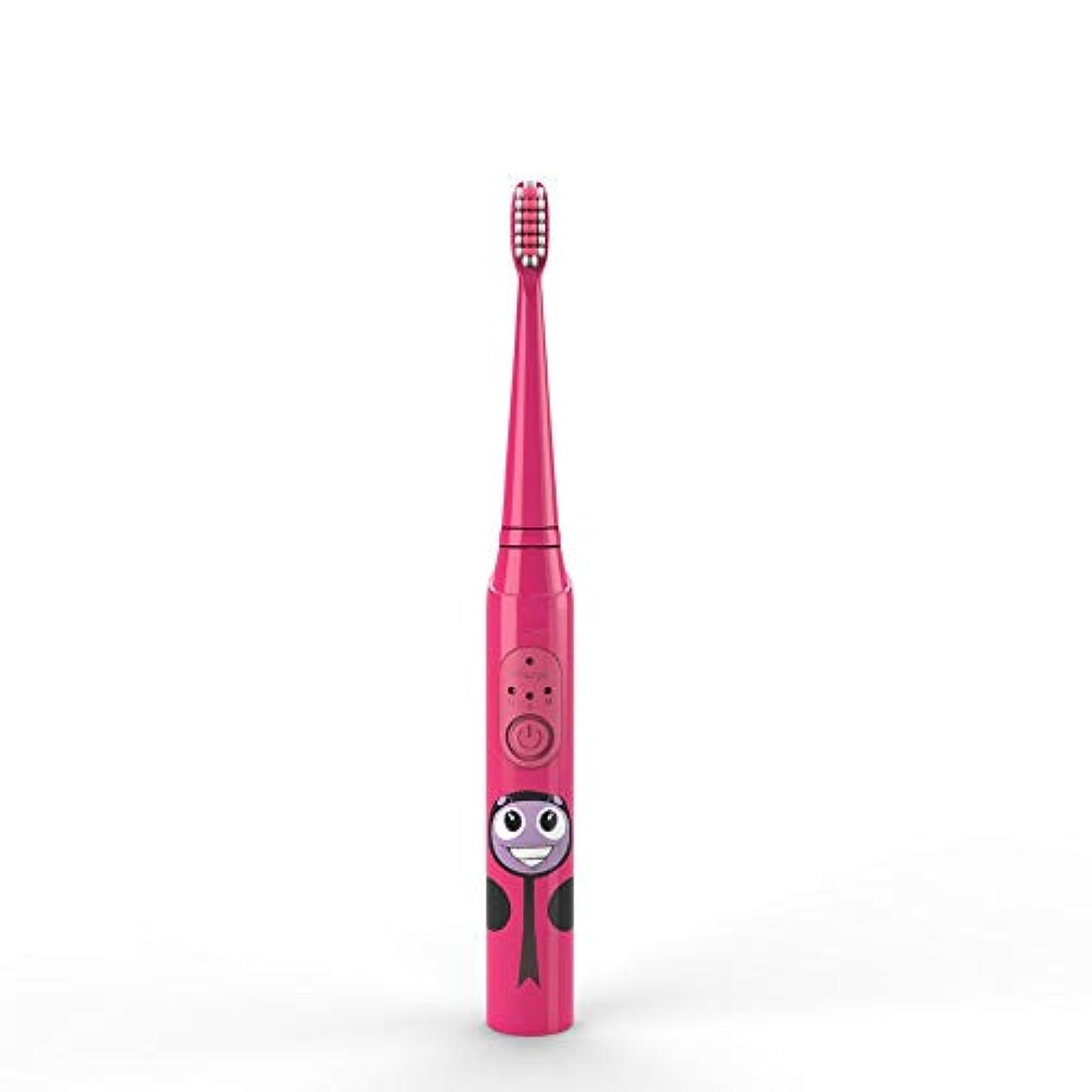 夜明けクリケットチロ電動歯ブラシ 子供の電動歯ブラシUSB充電式保護清潔で柔らかい毛の歯ブラシ日常の使用 大人と子供向け (色 : 赤, サイズ : Free size)