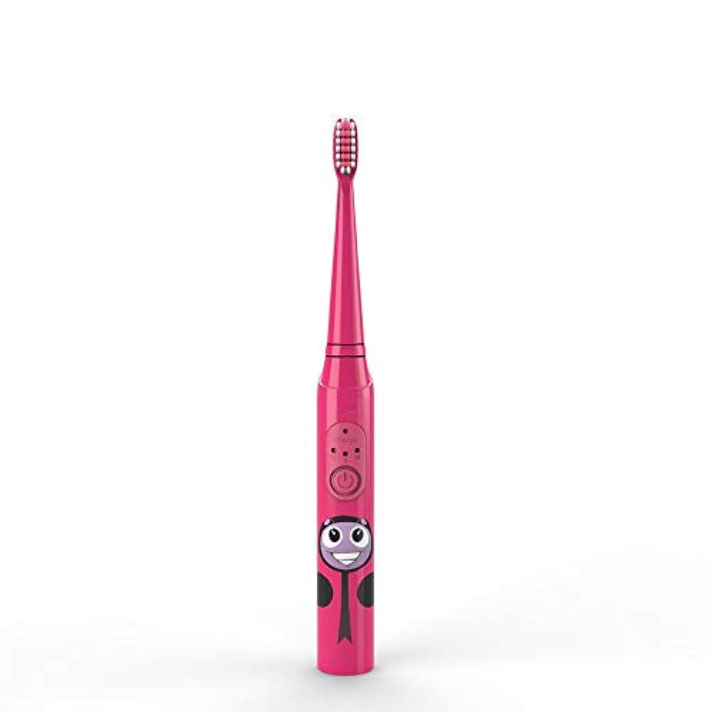 敵意名誉ある学習者電動歯ブラシ 子供の電動歯ブラシUSB充電式保護清潔で柔らかい毛の歯ブラシ日常の使用 大人と子供向け (色 : 赤, サイズ : Free size)